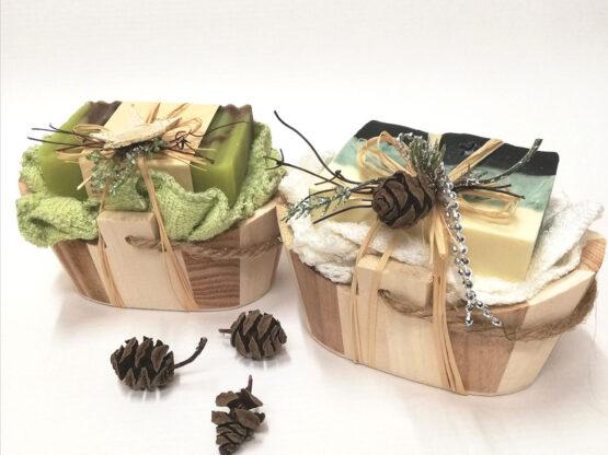 Geschenkset Holzkiste Seifen